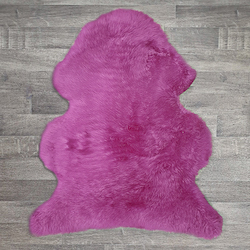 Single British Sheepskin - Cerise - Large