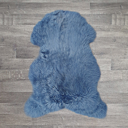 Single British Sheepskin - Cornflower Blue - Large