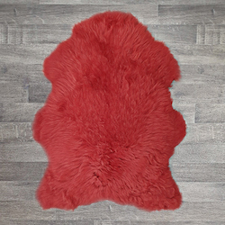 Single British Sheepskin - Red - Large