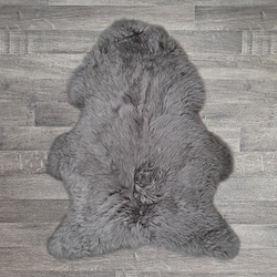 Single British Sheepskin - Slate Grey - Large