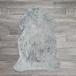 Single British Sheepskin - Soft Grey - Large