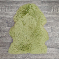 Single British Sheepskin - Tarragon - Large