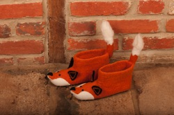 Adults Finlay Fox Felt Slippers