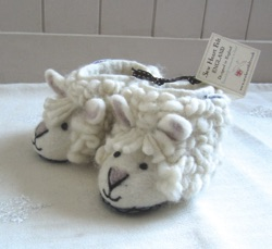 Shirley the Sheep Felted Slippers