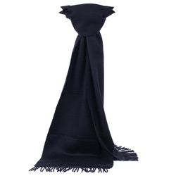 Lambswool  Plain Black Scarf