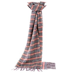 Lambswool Gunclub Scarf Brown/Orange