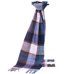 Lambswool Pateley Blue Scarf