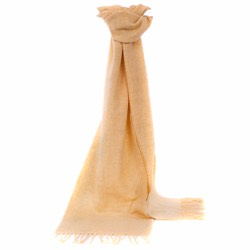 Lambswool Plain Parchment Scarf