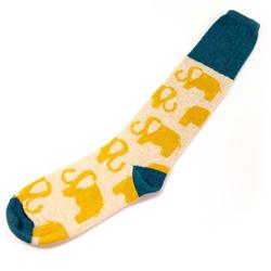 Lambswool Socks, Elephant UK 5-7
