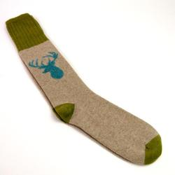 Lambswool Socks, cream Stag UK 8-10