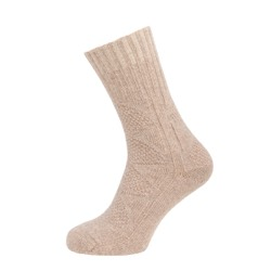 Womens Textured Casual Ankle High Sock Brown UK 4-7
