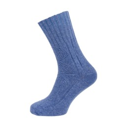 Womens Textured Casual Ankle High Sock Denim UK 4-7