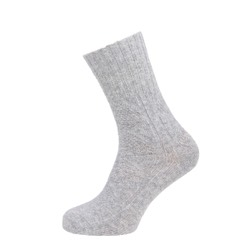 Womens Textured Casual Ankle High Sock Grey UK 4-7