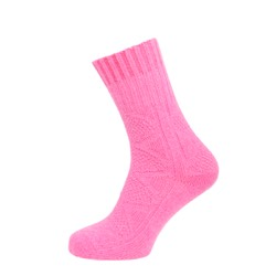 Womens Textured Casual Ankle High Sock Pink UK 4-7