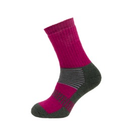 Womens Boot Sock Purple/sage/Grey Stripe UK 4-7