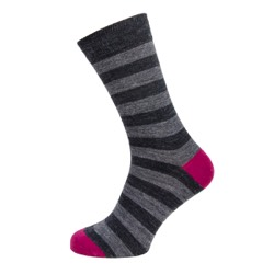 Mens stripe sock Charcoal/ grey stripe UK 7-11