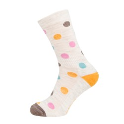 Womens Spotty sock Ecru Marl UK 4-7