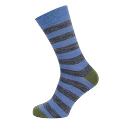 Mens stripe sock grey/blue stripe UK 7-11