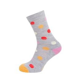 Womens Spotty sock Grey Marl UK 4-7