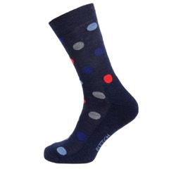 Mens spotted sock Navy UK 7-11