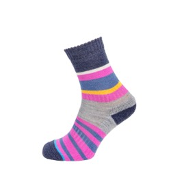 Womens multi stripe sock Pink UK 4-7