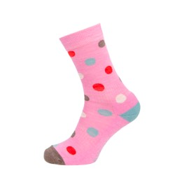 Womens Spotty sock Pink UK 4-7