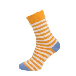 Womens Striped socks Yellow/ ecru UK 4-7