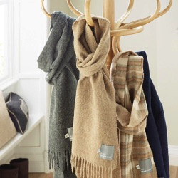 Wool Scarf-Plain Camel Lambswool