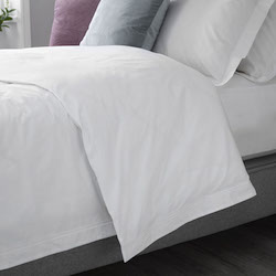 US size Arinta Oxford Comforter Cover - 200tc Organic Cotton